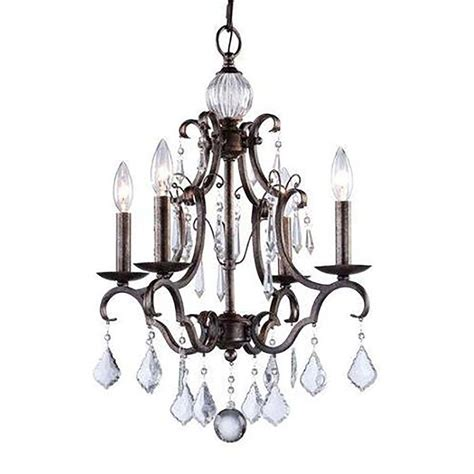 Brown Chandeliers by Filament Design Vieira 4 Light Brown Chandelier Cli
