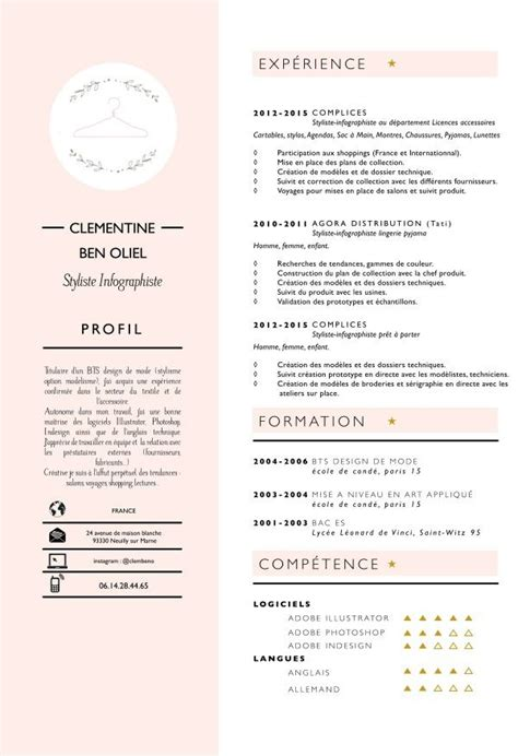 Designing A Resume In Illustrator by Best 25 Fashion Resume Ideas On