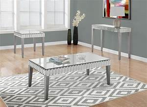 spec designs by monarch specialties coaldale coffee table With brushed silver coffee table