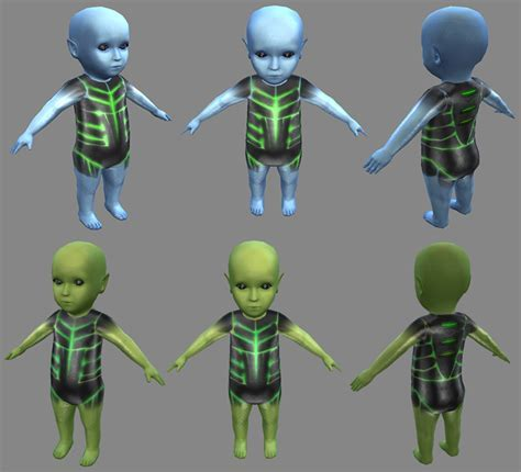 The Sims 4: New 3D Models   Concept Art by Caiphus