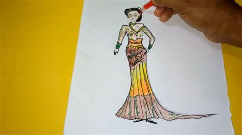Contemporary design with modern look. Belajar Gambar dan Mendesign Baju Kebaya Modern - YouTube