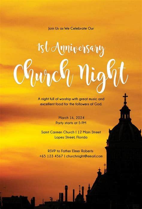 church invitation samples word psd ai vector eps
