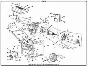 Homelite Hg5700 Series 5700 Watt Generator Parts Diagram