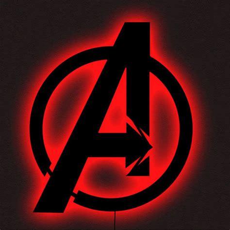 marvels avengers logo led wall art black multi color light usa l decor notapplicable