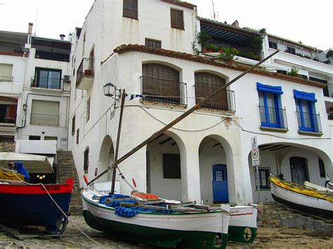 Fishing Village Along The Cami Ronda Hiking Spain