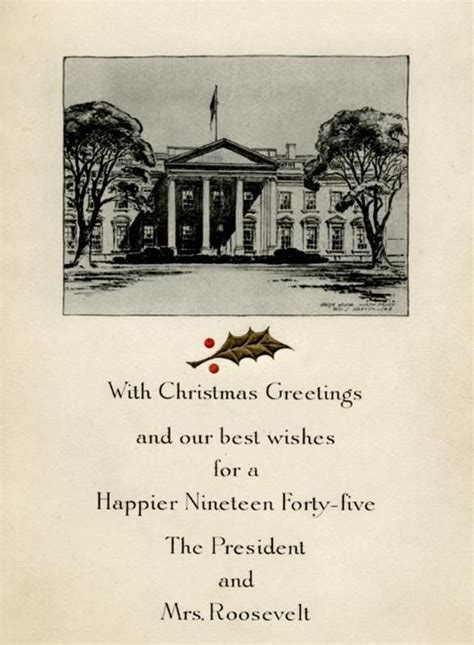 white house christmas card   roosevelts