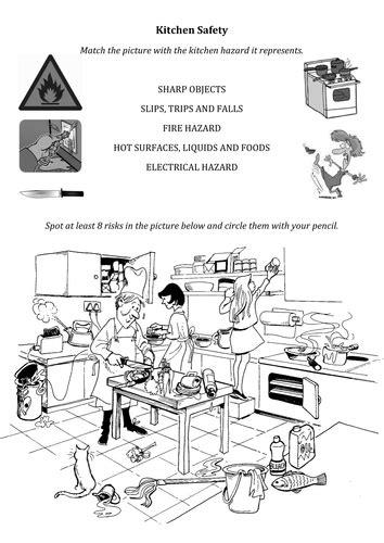 printables kitchen safety worksheets lemonlilyfestival