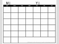 Blank Calendar No Download Calendar