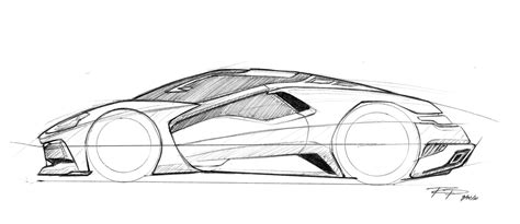 futuristic cars drawings sketches renderings by rob podell at coroflot com