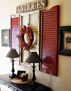 Inspiring ways to use vintage shutters on your walls