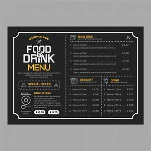 free restaurant menu templates download With html menu templates free download