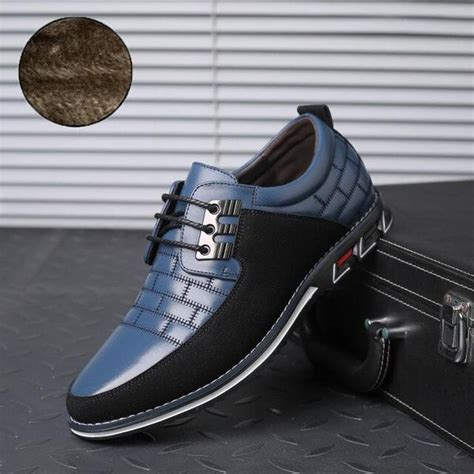 Men Shoes New Big Size Oxfords Leather