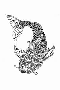 zendoodle coloring pages - zendoodle fish printable coloring page by artbymytha on