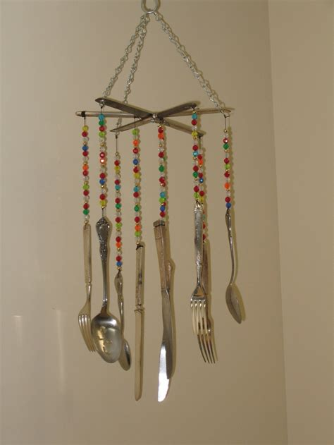upcycled silverware wind chime project upcycle