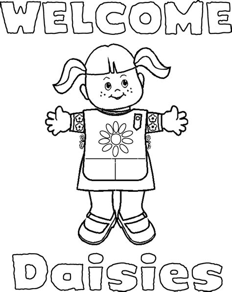 Daisy Girl Scout Coloring Pages Daisy Girl Scouts Daisy