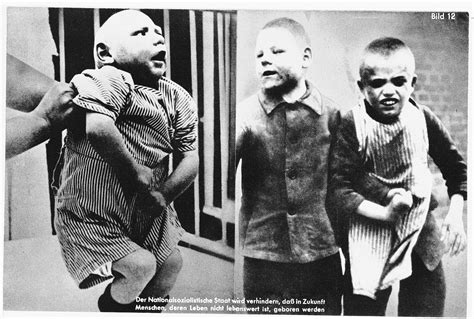 nazi propaganda composite photograph showing mentally