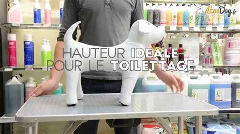 table de toilettage pliante pour chien atoodog