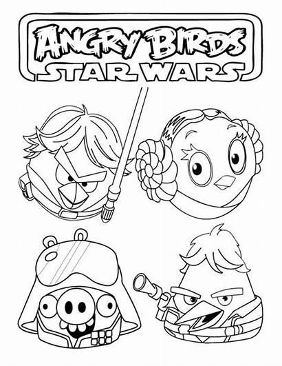 Coloring Wars Angry Birds Leia Princess Luke