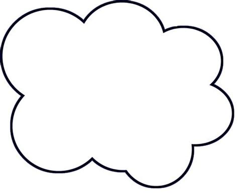 cloud template cloud template printable clipart best