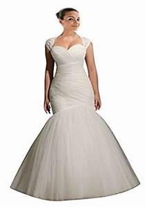 mollybridal women39s tulle mermaid plus size wedding With amazon wedding dresses plus size