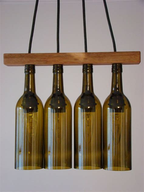 walnut seperator wine bottle chandelier product design