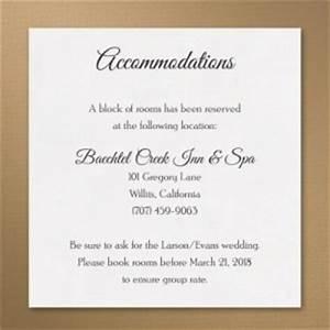 image gallery wedding accommodations With wedding invitation inserts hotel accommodations