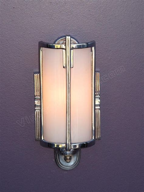 vintage bathroom lighting antique mid 30s chrome vintage