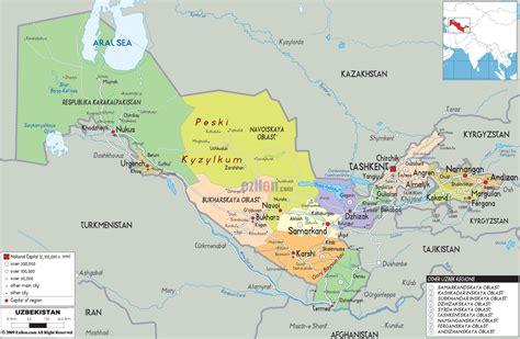 uzbekistan map travelquazcom