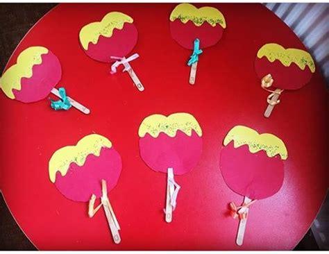 apple candy craft  kids preschool  homeschool