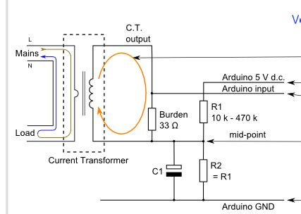 arduino ct current transformer protection electrical