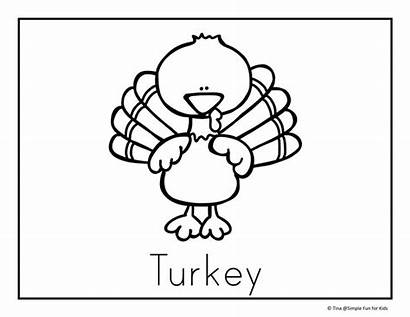 Coloring Thanksgiving Pages Dinner Table Turkey Pdf