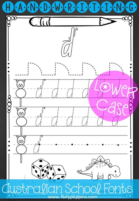 australian handwriting worksheets  case upper