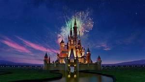 backround, castle, disney, fireworks, love, movie ...