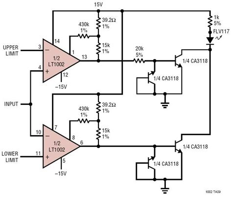 Dual Limit Microvolt Comparator Circuit Collection