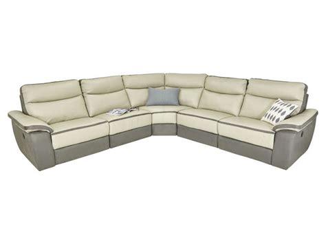 canapé d 39 angle relaxation électrique 5 places en cuir