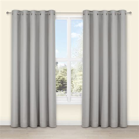 Salla Concrete Plain Woven Eyelet Lined Curtains (W)167 cm