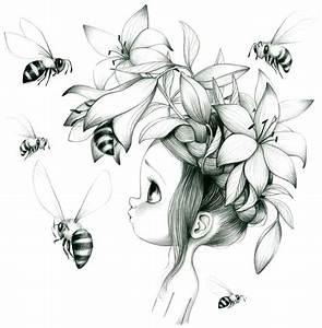 abeilles dessin and coloriage pour adultes on pinterest With affiche chambre bébé avec sweat fleur de lys