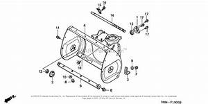 Honda Hs828 Snowblower Parts Diagram