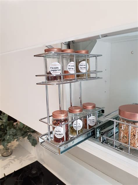 overhead pull  spice rack tansel storage