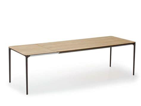 le esstisch holz ausziehbarer esstisch aus holz im modernen stil slim wood