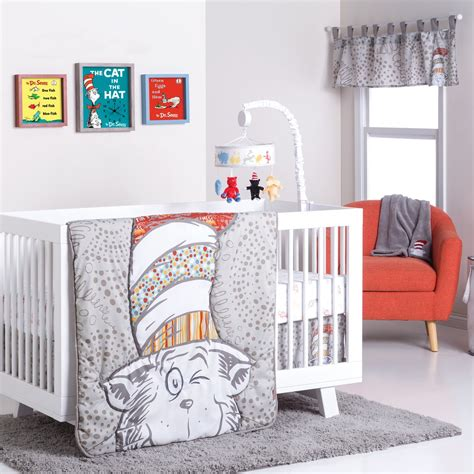 dr seuss crib bedding trend lab dr seuss peek a boo cat in the hat 4 crib