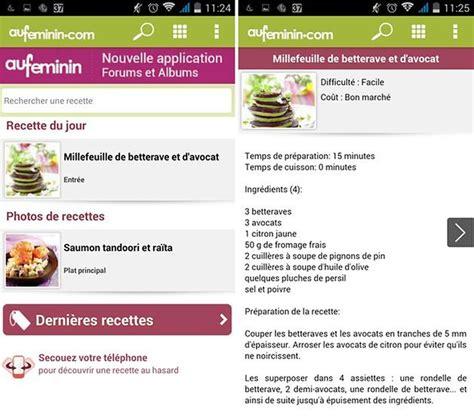 aufeminin com cuisine les meilleures applications de recettes sur android