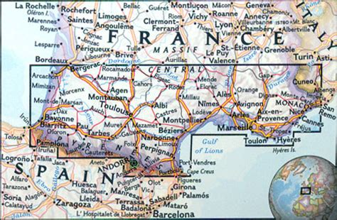 southern france map