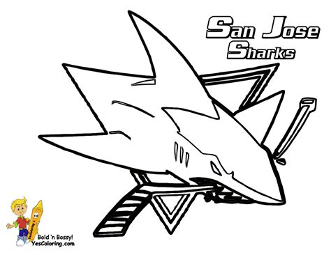 san jose sharks colors hockey coloring pictures nhl hockey west