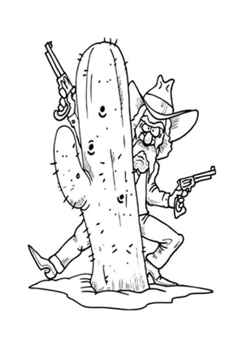 ausmalbilder cowboy hinterm kaktus cowboys malvorlagen