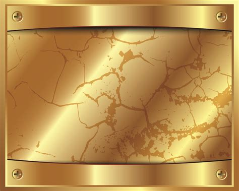 shiny gold metal  grunge background vector