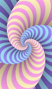 Pastel Swirl Circular Movement Illusion Background ...