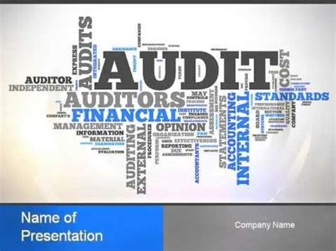 audit word cloud powerpoint template youtube