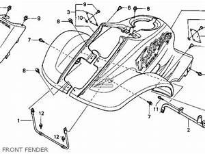 Honda trx90 fourtrax 90 1993 p usa parts lists and for Honda trx 90 lights
