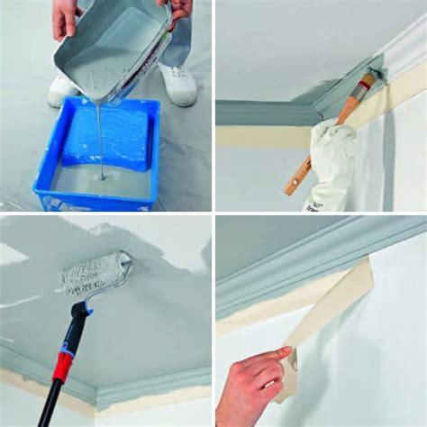 peindre un plafond facilement comment peindre un plafond moulur 233 bricobistro